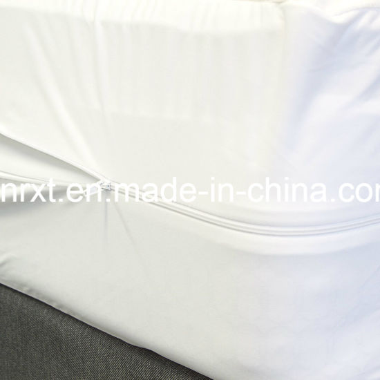 Antibacterial Knit Fabric Waterproof Mattress Encasement with Zipper
