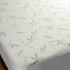 Bamboo Jacquard Waterproof Mattress Protector 40% bamboo 60% ployester knitted fabric laminated with TPU Waterproof Mattress Protector