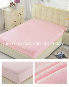Factory Price 80% Cotton 20% Polyester Terry Cloth Laminated TPU Waterproof Mattress Protector, Terry Fitted Sheets
