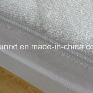 Premium Quality White Color Custom Durable Hotel Quilted Mattress Protector with Zipper