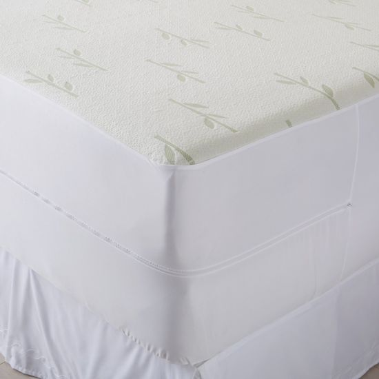 Waterproof, Hypoallergenic, Breathable, Deep Pocket Zippered Bamboo Mattress Encasement