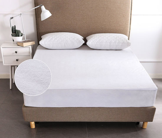 Premium 100% Cotton Terry Fitted Mattress Cover